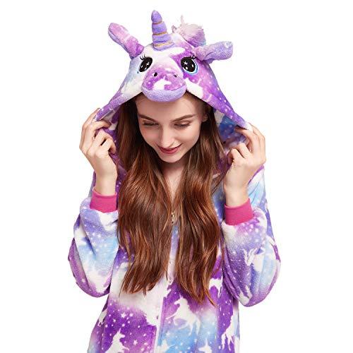 Licorne Unisex Adult Onesies Pajamas, Nousion Cosplay Christmas Sleepwear Onesies Outfit