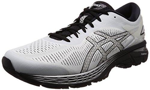 ASICS Men's Gel-Kayano 25 Running Shoes, 11M, Glacier Grey/Black