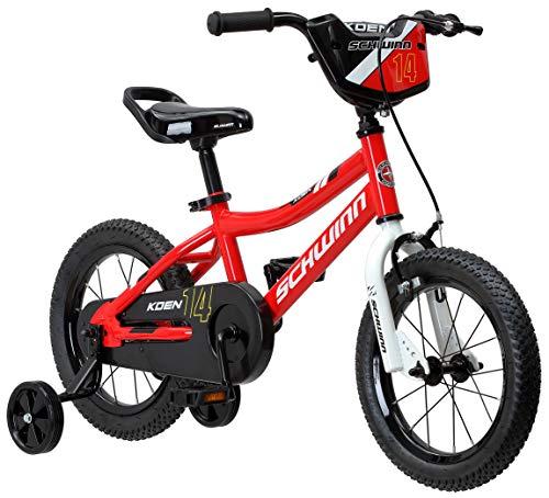 Schwinn Koen Boys Bike for Toddlers and Kids, 14-Inch Wheels, Red