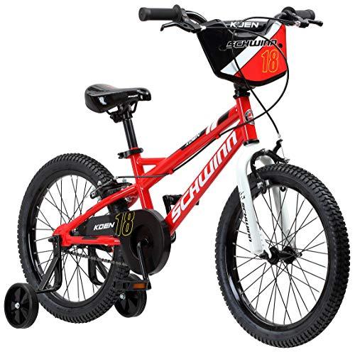 Schwinn Koen Boys Bike for Toddlers and Kids, 18-Inch Wheels, Red