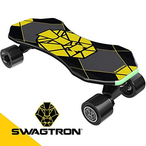 "Swagtron Swagskate NG3 Electric Skateboard for Kids, Teens | Kick-Assist A.I. Smart Sensors | Mini E-Cruiser Skateboard w/Move-More/Endless Mode | 9"" Deck 72mm Wheels"