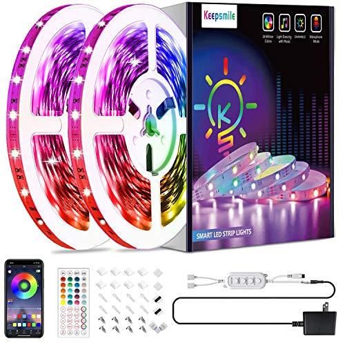 50ft Led Strip Lights Smart Sync Music Led Lights for Bedroom Home Decoration, APP Control