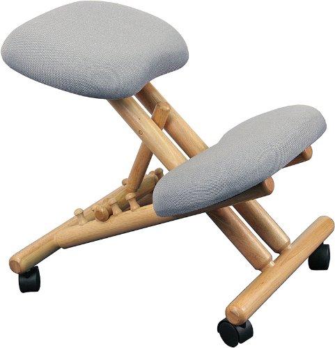 Flash Furniture Wooden Ergonomic Kneeling Posture Office Chair, Gray, WL-SB-101-GG