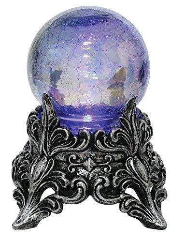 Seasons Mystic Crystal Ball Decoration, Purple, One Size