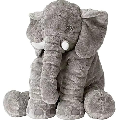 BOOJALOO Giant Stuffed Animals Doll Elephant Stuffed Animal, 24' Stuffed Elephant Plush Toy Gifts for Girls Boys Gray
