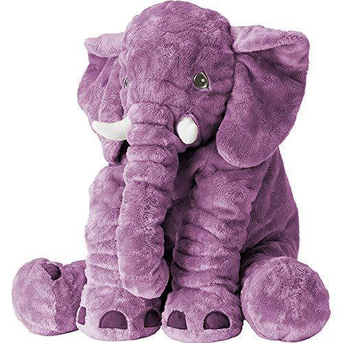 XMWEALTHY Unisex Baby Elephant Plush Doll Cute Large Size Stuffed Animal Plush Toy Doll Gifts for Girls Boys Purple