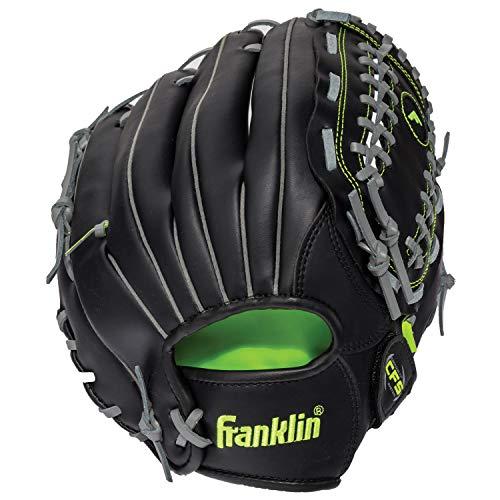 Franklin Sports Baseball and Softball Glove - Field Master - Baseball and Softball Mitt Black, 12.0'
