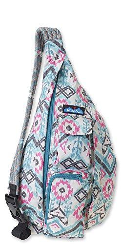 KAVU Original Rope Sling Bag Polyester Crossbody Backpack - Island Ikat