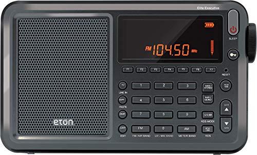 Eton Elite Executive AM/FM/Aircraft Band/SSB/Shortwave Radio with RDS & Custom Leather Carry Cover, Model:NELITESATELLIT
