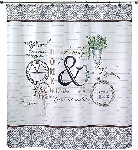 Eletina mlfl Funny Fancy Linens Modern Farmhouse Shower Curtain Decor Waterproof Fabric Polyester