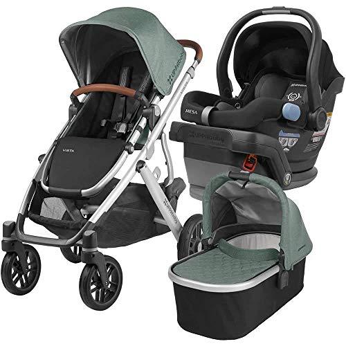 UPPAbaby Full-Size Vista Infant Baby Stroller & MESA Car Seat Bundle (Emmett/Jake)