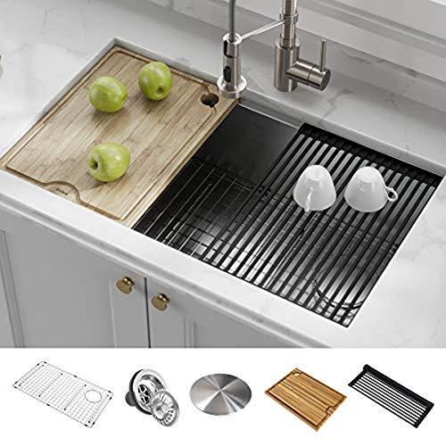 Kraus KWU110-32 Kore Kitchen Single Bowl, 32 Inch, 32'- Workstation Sink