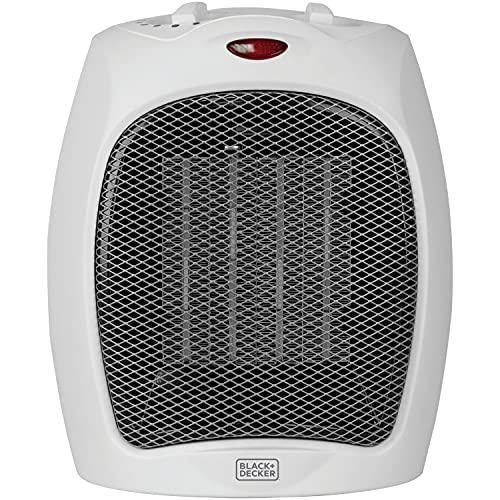 BLACK+DECKER Desktop Heater, Small, White