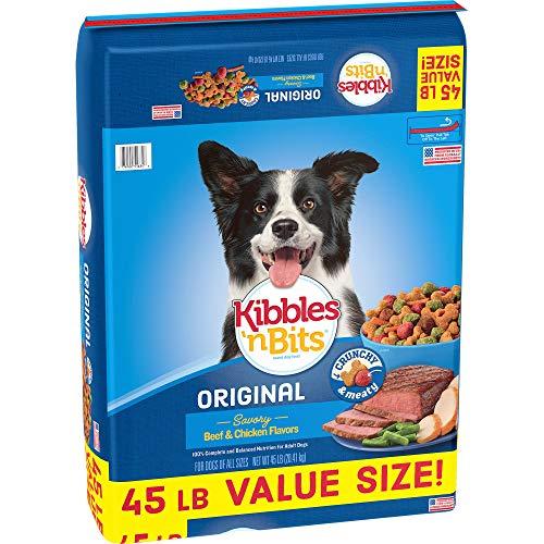 Kibbles 'N Bits 45 Lb Original Savory Beef & Chicken Flavors Dry Dog Food, Large