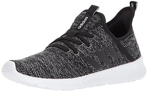 adidas Women's Cloud foam Pure Running Shoe, black/black/white, 7 Medium US