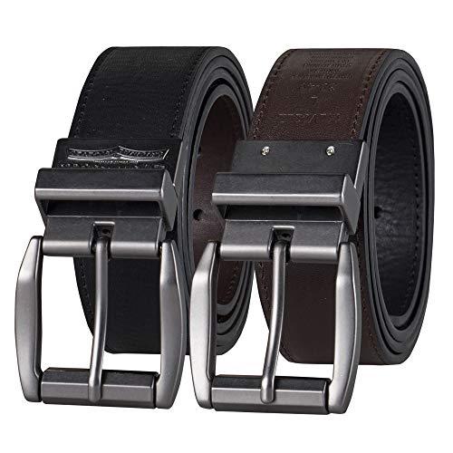Levi's Men's Reversible Casual Jeans Belt, Black/Brown Laminate, 38 (Waist 36)
