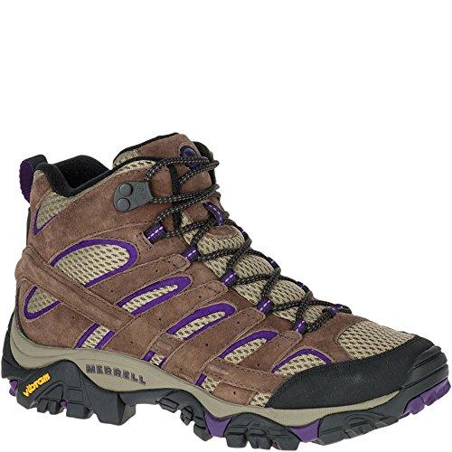 Merrell Women's Moab 2 Vent Mid Hiking Boot, Bracken/Purple, 9 M US