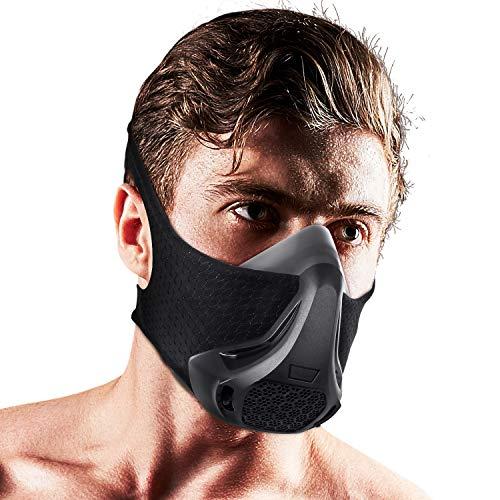 Workout Mask Elevation mask 24 Breathing Levels High Altitude Simulation Training Mask Sports Fitness, Running, Resistance, Cardio, Endurance, Exercise, Gym Mask for Fitness Training Sport Bane Mask