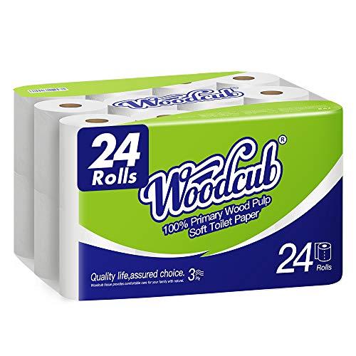 Ultra Strong Toilet Paper,24 Mega Rolls,24=84 Regular Rolls,3 Ply Tissues