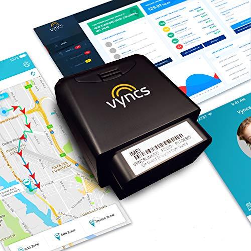 GPS Tracker for Vehicles Vyncs 4G No Monthly Fee Real Time Tracker 1 Yr Data Plan USA+Global SIM Car Truck Tracker OBD Trips Driver Alert Engine Data. Teens Seniors Family Fleet. Alexa. Actvn Fee Reqd