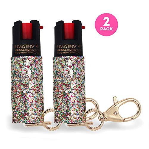 super-cute pepper spray Keychain for Women Professional Grade Maximum Strength OC Formula 1.4 Major Capsaicinoids 10-12 Ft Effective Range Accurate Stream Self-Defense Accessory Designed for Women