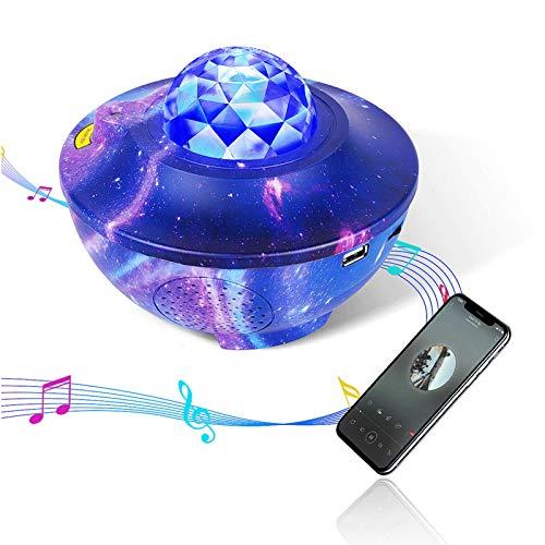 Smart Galaxy Projector, Tanbaby WiFi Galaxy Light Projector for Bedroom, Starlight Projector Bluetooth Music Speaker Work with Alexa&Google Assistant,Remote Star Light Projector for Bedroom/Christmas