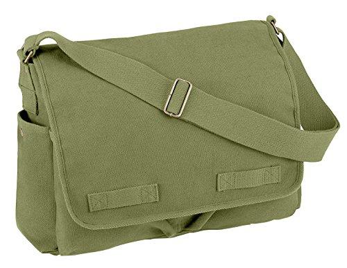 Rothco Hw Canvas Classic Messenger Bag, Olive Drab