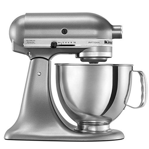 KitchenAid 5 Qt. Artisan Series Stand Mixer Contential Silver RRK150CU (Renewed)