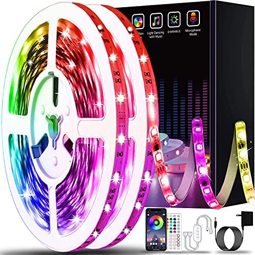 50ft Led Lights for Bedroom, Keepsmile APP Control Music Sync Color Changing Led Light Strips Led Strip Lights with Remote for Room Home Decoration