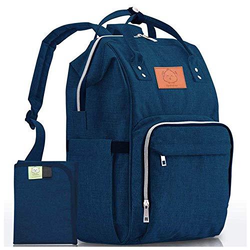 Diaper Bag Backpack - Large Waterproof Travel Baby Bags (Navy Blue)