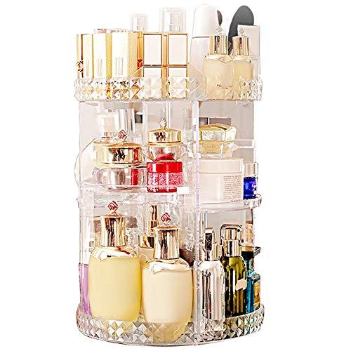 Makeup Organizer 360 Degree Rotating 7 Adjustable Layers Large Capacity Cosmetic Organizer Transparent Make Up Organizers and Storage