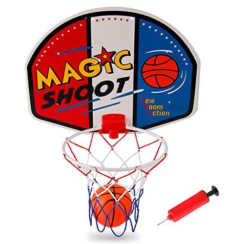 Liberty Imports Magic Shot Mini Basketball Hoop Set with Ball and Pump (Single)