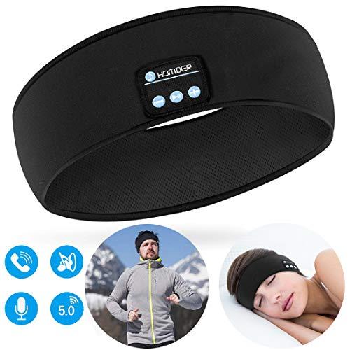 Homder Sleep Headphones Bluetooth Sport Headband Stereo Wirless Bluetooth 5.0 Headset Unisex Sport Sweatband for Working Out, Exercising, Skating, Snowboarding, Hiking