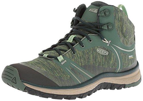 KEEN Women's Terradora Mid Wp-w Hiking Boot, Duck Green/Quiet Green, 8 M US