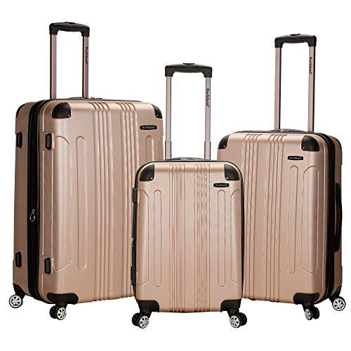 Rockland London Hardside Spinner Wheel Luggage, Champagne, 3-Piece Set (20/24/28)