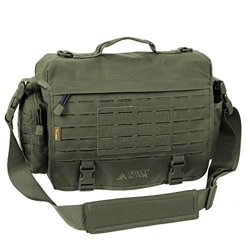 Direct Action Messenger Mk II Tactical Bag Olive Green Mk II 10 Liter Capacity, Ideal for Laptop, ipad or Tablet
