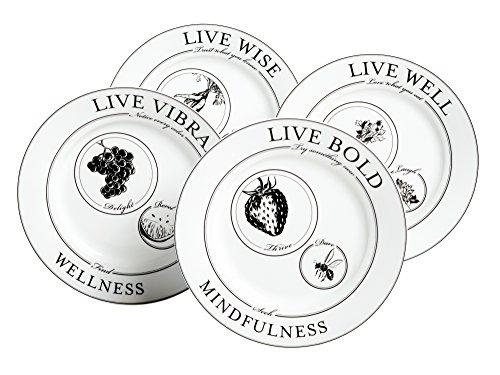 Livliga Celebrate Portion Control Side Plates, Set of 4