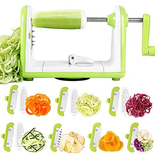 Vegetable Spiralizer Sedhoom 7 Blade Spiralizer Vegetable Slicer Spiral Slicer Zucchini Spaghetti Maker Zucchini Noodle Maker Veggie Spiralizer