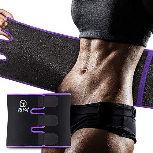 Waist Trimmer Sweat Waist Trainer Women Waist Sweat Belt Band Belly Stomach Wrap Purple