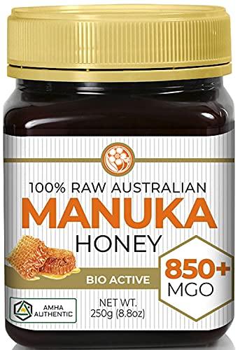 Manuka Honey MGO 850+ (NPA 20+) High Grade Medicinal Strength   Non GMO   Raw   Active   AMHA Certified   250g by Good Natured