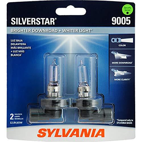SYLVANIA 9005 SilverStar High Performance Halogen Headlight Bulb, (Contains 2 Bulbs), White (9005ST.BP2)