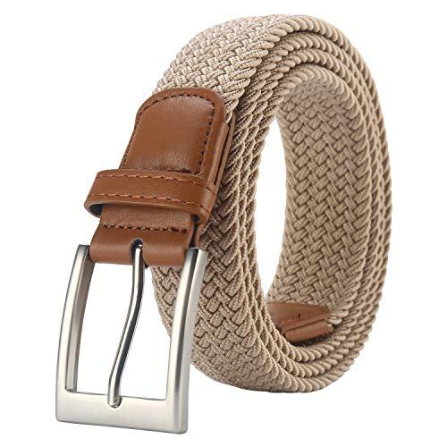 Lavemi Mens Belt, Stretch Elastic Casual Woven Sport Golf Braided Belts for Men,Gift Box(35-23590-1 110cm)