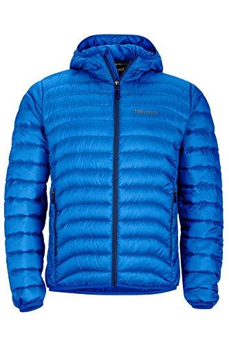 Marmot Men's Tullus Hoody Winter Puffer Jacket, Fill Power 600, True Blue, Large