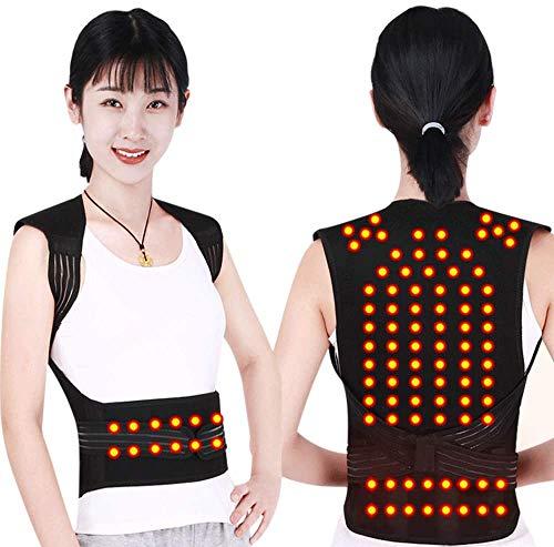 Scienlodic Tourmaline Self Heating Magnetic Therapy Waist Shoulder Back Posture Corrector Spine Support Back Brace Self-heating Vest Belt