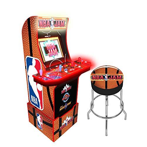 Arcade1Up NBA Jam Special Edition Arcade Machine with Custom Riser and Matching Stool