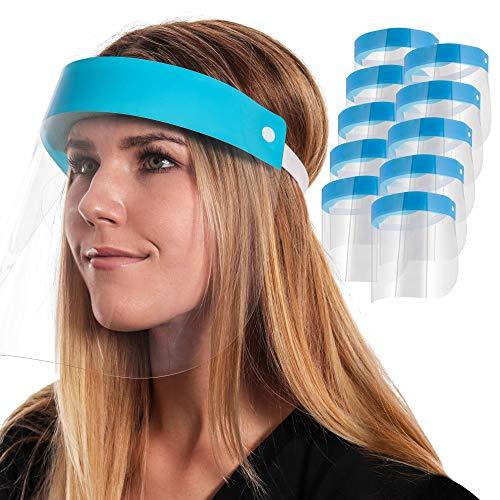 Salon World Safety Face Shields Ultra Clear Protective Full Face Shields