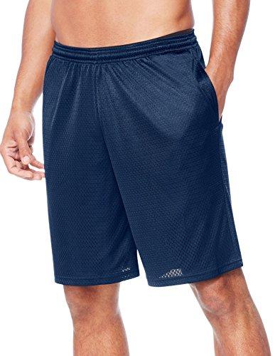 Hanes Men's Sport Mesh Pocket Short, Navy Heather, Medium
