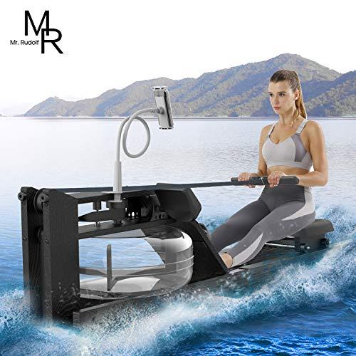 Mr RudolfBlack Oak Water Rowing Machine with MonitorW/Bonus Rowing Machine CoverHome Gyms Training Equipment Sports Exercise Machine Fitness Indoor