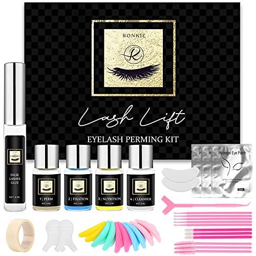 Lash Lift Kit, Eyelash Perm Kit, Professional Eyelash Curling Lash Extension Set, Glue Upgraded Version, Lash Extensions, Lash Curling, Semi-Permanent Curling Perming Wave Suitable For Salon