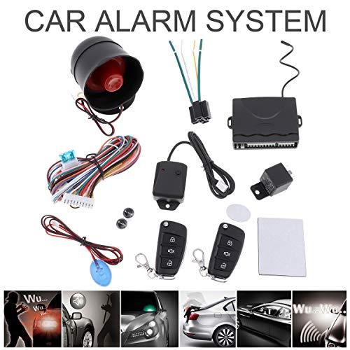 Universal 12V Auto Car Alarm Keyless Entry System with Remote Control Siren Sensor
